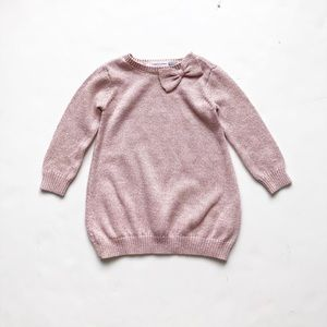 The children's place knit bow sweater EUC 12-18m
